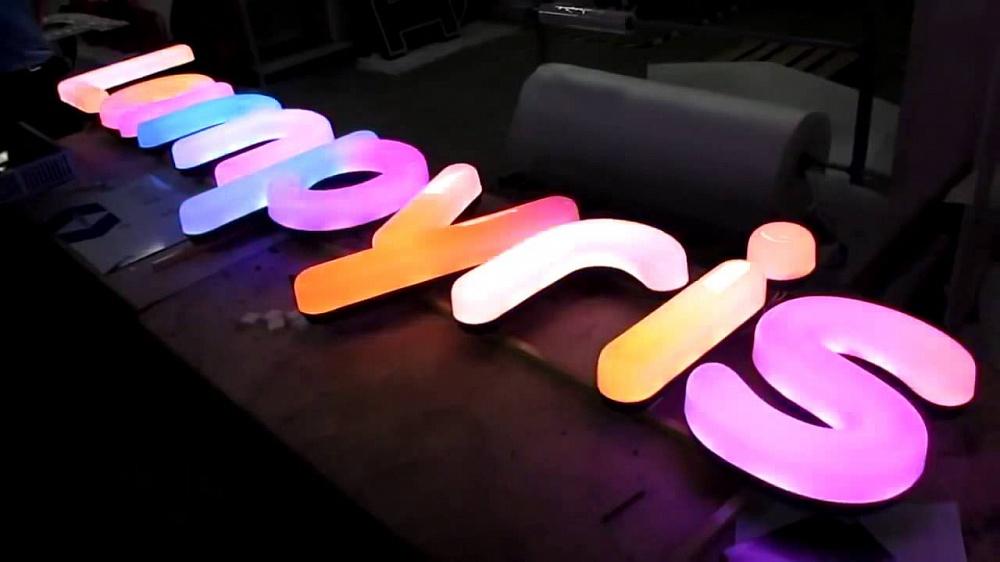 полностью световые буквы с rgb