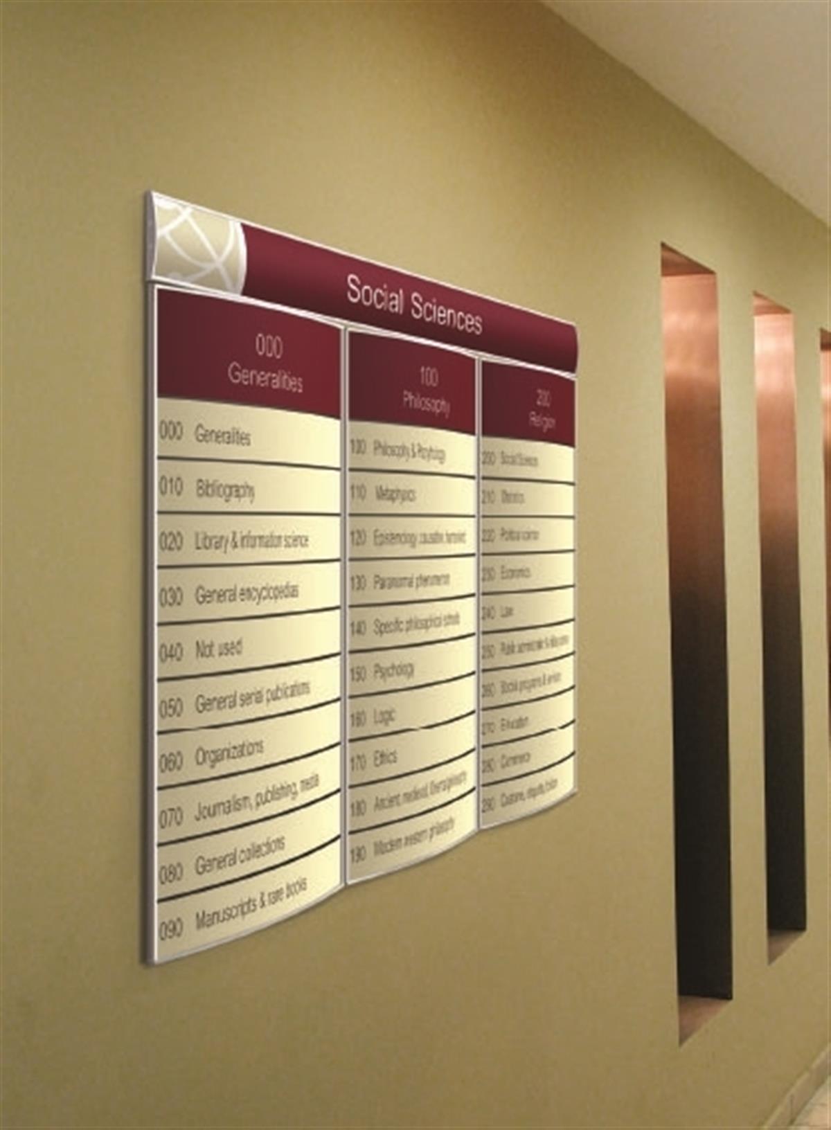 настенная наборная панель в бизнес центр