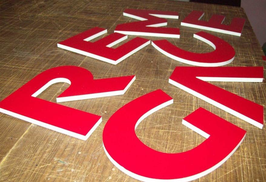Изготовление плоских букв