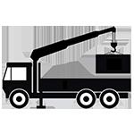 Авто манипулятор для перевозки рекламных конструкций к месту монтажа