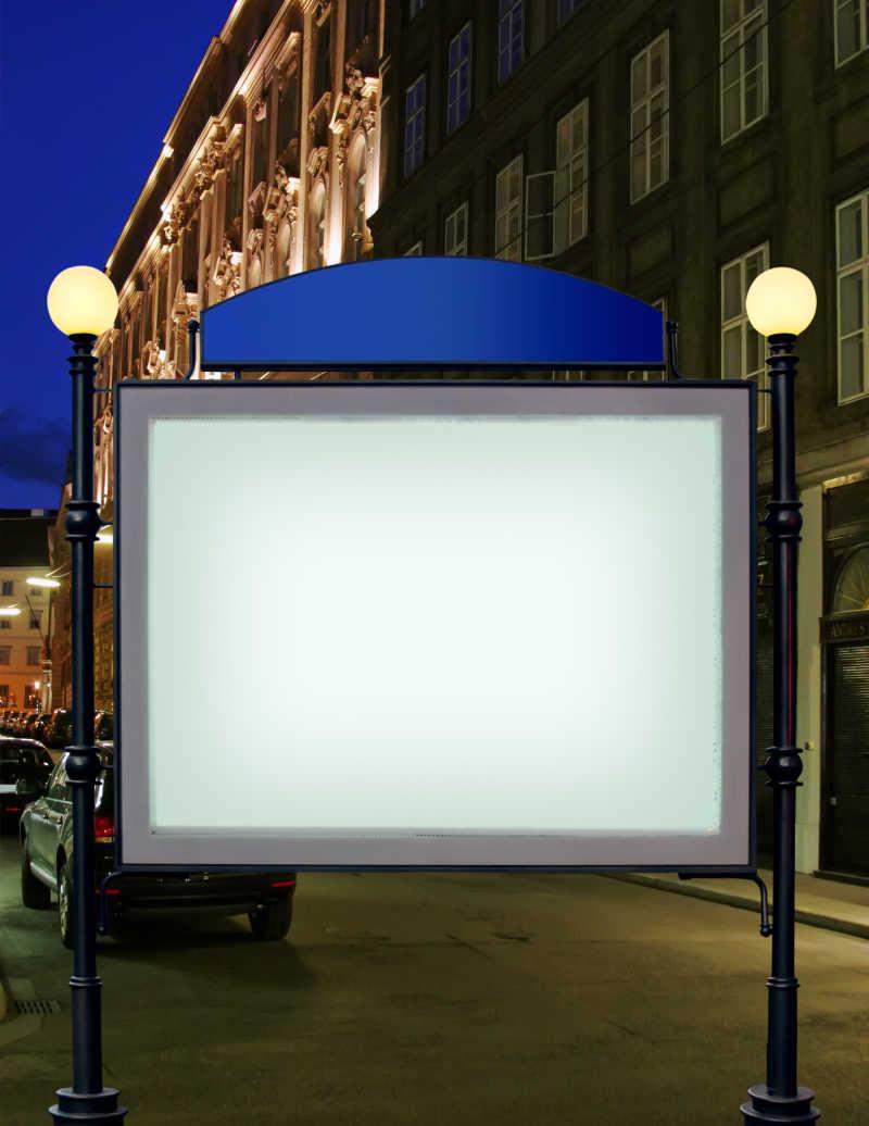 уличный стенд с внутренней подсветкой